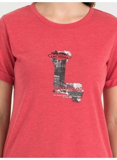 Loft Baskılı Tişört Pembe